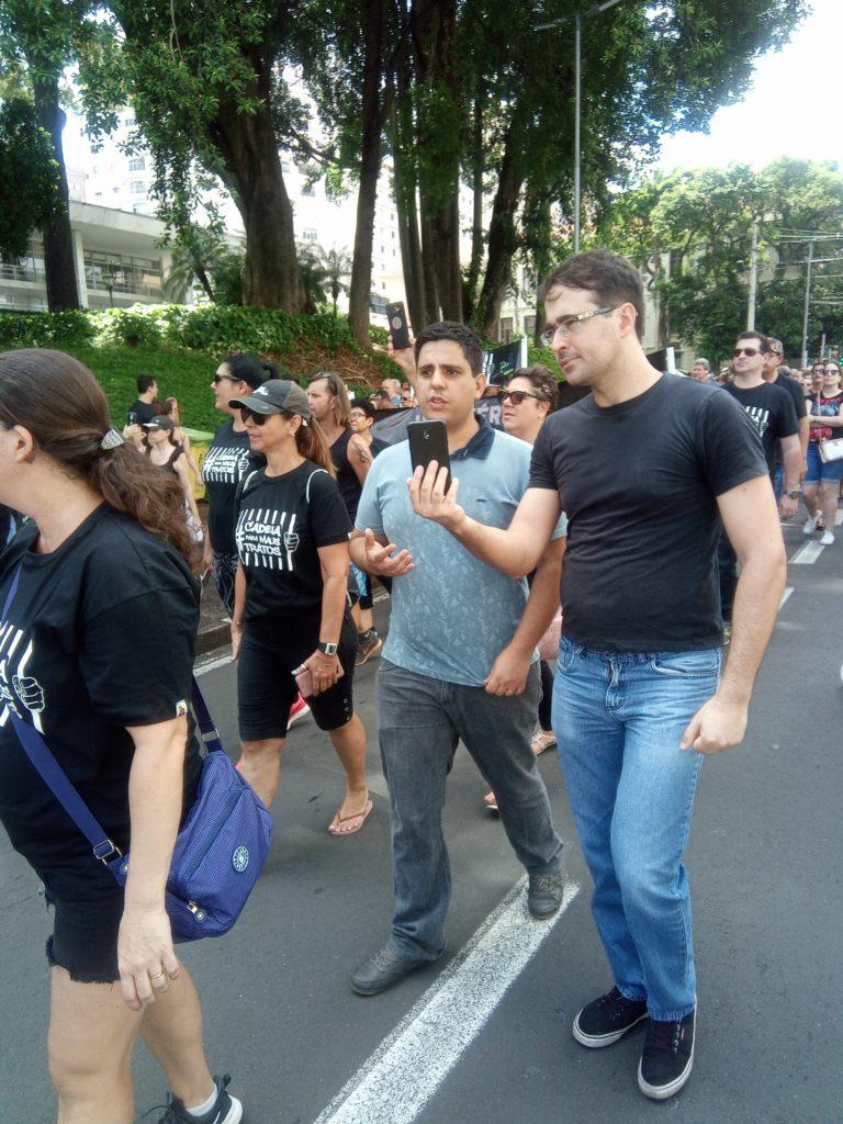 Felipe e Bruno caminharam lado a lado durante evento